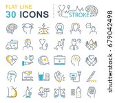 set vector line icons  sign and ... | Shutterstock .eps vector #679042498