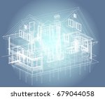 author's design of residential... | Shutterstock .eps vector #679044058
