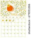 vector monthly calendar with... | Shutterstock .eps vector #679051006