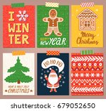 vector set of bright holiday... | Shutterstock .eps vector #679052650