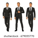 business people  set of three... | Shutterstock .eps vector #679055770