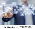 smart factory or industry 4.0... | Shutterstock . vector #679071520