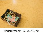 wedding gold rings in a box | Shutterstock . vector #679073020