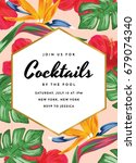 cocktail party invitation with... | Shutterstock .eps vector #679074340