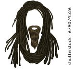 indian sadhu hairstyle with... | Shutterstock .eps vector #679074526
