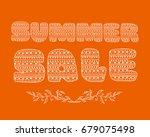 summer sale decorative doodle... | Shutterstock .eps vector #679075498