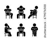 woman people various sitting... | Shutterstock .eps vector #679076500