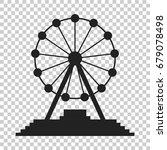 ferris wheel vector icon....   Shutterstock .eps vector #679078498