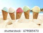 Ice Cream On Beach