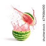 watermelon with slice and... | Shutterstock . vector #679086400