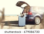 car trip and summer time  | Shutterstock . vector #679086730