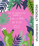 wedding card templates with... | Shutterstock .eps vector #679092934
