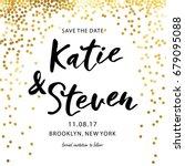 gold glittering background... | Shutterstock .eps vector #679095088