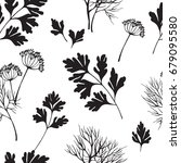 vegetable seamless pattern with ... | Shutterstock .eps vector #679095580