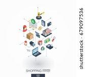 shopping integrated 3d web... | Shutterstock .eps vector #679097536