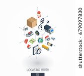logistic integrated 3d web... | Shutterstock .eps vector #679097830
