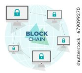 block chain technology. vector...   Shutterstock .eps vector #679099270