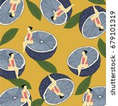 Summer Pattern With Lemons...