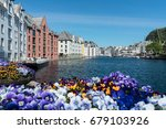 colorful buildings in the... | Shutterstock . vector #679103926