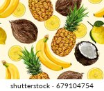 beautiful hand drawn pattern... | Shutterstock .eps vector #679104754
