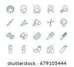haircut  hairdressing vector... | Shutterstock .eps vector #679105444