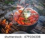 Cooking Crayfish In The Wild...