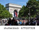 paris  france   july 14  2017   ... | Shutterstock . vector #679107328