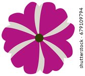 isolated flower on a white... | Shutterstock .eps vector #679109794