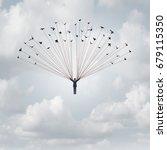business career help concept... | Shutterstock . vector #679115350