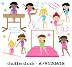 vector collection of cute... | Shutterstock .eps vector #679120618