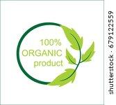 eco organic product logo | Shutterstock .eps vector #679122559