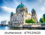 berlin cathedral in berlin in... | Shutterstock . vector #679124620