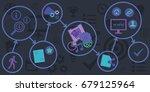 vector illustration of scheme... | Shutterstock .eps vector #679125964