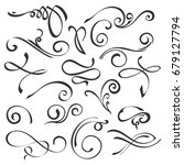 hand drawn swirl ornate... | Shutterstock . vector #679127794