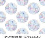 beautiful japanese seamless ... | Shutterstock .eps vector #679132150
