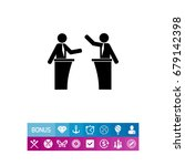 political debates simple icon | Shutterstock .eps vector #679142398