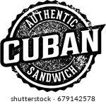 vintage cuban sandwich menu... | Shutterstock .eps vector #679142578