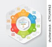 vector infographic of hexagonal ... | Shutterstock .eps vector #679144963
