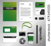 green gradient corporate... | Shutterstock .eps vector #679145320