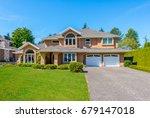 big custom made luxury house... | Shutterstock . vector #679147018