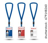 id card crew with lanyard set.... | Shutterstock .eps vector #679148260