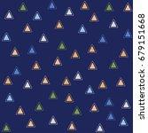 vector seamless geometric...   Shutterstock .eps vector #679151668