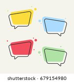 speech bubbles. vector speech... | Shutterstock .eps vector #679154980