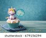 unicorn cupcake for a party   Shutterstock . vector #679156294