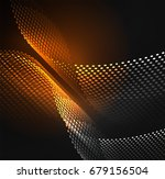 glowing particles wave design... | Shutterstock .eps vector #679156504