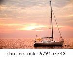 in a fiery heaven vacation... | Shutterstock . vector #679157743