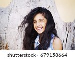 portrait of a smiling charming... | Shutterstock . vector #679158664