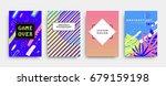 geometric line patterns... | Shutterstock .eps vector #679159198