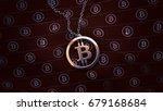 bitcoin platinum pendant 3d... | Shutterstock . vector #679168684