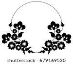 black and white silhouette... | Shutterstock .eps vector #679169530